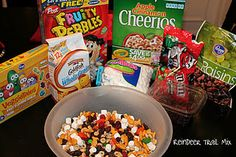 Reindeer Trail Mix for class parties