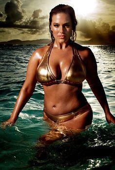 Swim Sexy Plus Size Gold Bikini
