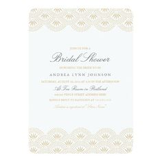 Deco Seigaiha Bridal Shower Invitation