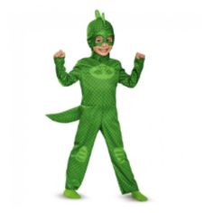 Just like Greg from PJ Masks, your child can take on the role of Gekko in the PJ Masks Gekko Classic Toddler Halloween Costume. Essential to the Gekko character, this full costume includes a green jumpsuit and matching hood and mask. Classic Halloween Costumes, Looks Halloween, Theme Halloween, Toddler Boy Costumes, Toddler Halloween Costumes, Halloween Kids, Costumes Kids, Trendy Halloween, Animal Costumes