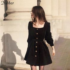 The Black Corduroy Belted Dress as seen on constance d Cute Casual Outfits, Pretty Outfits, Pretty Dresses, Fall Outfits, Flannel Outfits, Winter Fashion Outfits, Dress Casual, Summer Outfits, Look Fashion