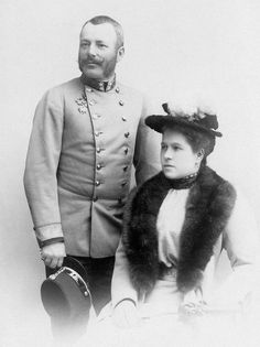 Archduke Friedrich of Austria, Duke of Teschen (1856-1936) and his wife Princess Isabella of Croÿ (1856 – 1931)