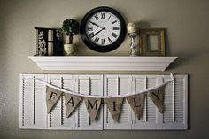 I have brown shutters, this totally inspires me to paint them and add some extra fun around them on a wall!