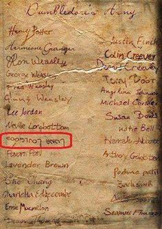 Oh Luna :') but does anybody else see the rip in the paper? Between Fred and George Weasley, and between Colin and Dennis Creevey. George lost his twin and Dennis lost his brother during the battle of Hogwarts. There are no longer such things as coincidences.
