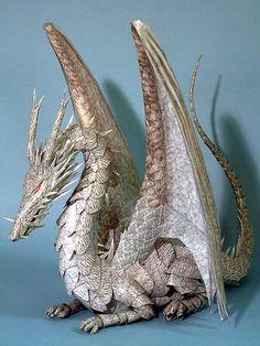 Twitter / origami_kids: Papercraft Dragon. Tales F