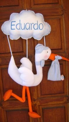 Handmade baby's hospital room door.  So sweet!