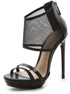 BCBGMAXAZRIA Ferned Mesh Cuff Sandals on shopstyle.com