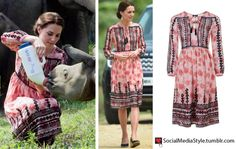 The Duchess is wearing the Topshop Embroidered Smock Midi Dress.  Buy it HERE for $140 or HERE for $150.