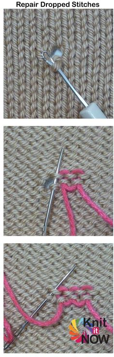 Rescue a dropped stitch | Knit It Now