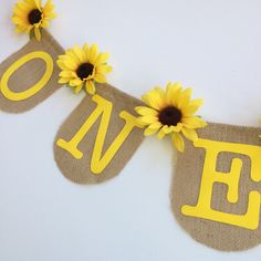 A personal favorite from my Etsy shop https://www.etsy.com/listing/524140003/one-banner-sunflower-first-baby-shower