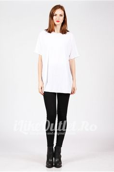 Tricou alb, larg COS Cos, Normcore, Shoulder, Women, Style, Fashion, Swag, Moda, Women's
