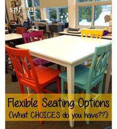 When I finally decided to take the plunge into flexible seating, I started to brainstorm all the different seating options that were available for my classroom. I didn't consider cost or availability-it's amazing what you can do when you're resourceful-so it was an open brain-dump session. I made three categories-low to the floor, sitting height …