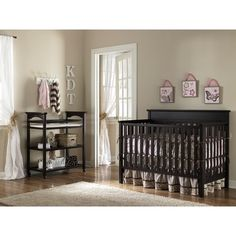 Grey Nursery Furniture Sets Ideas — Great Home Decorations Best Baby Cribs, Best Crib, Grey Nursery Furniture, Black Crib Nursery, Dog Nursery, Nursery Art, Crib With Changing Table, Brown Crib, Wood Crib