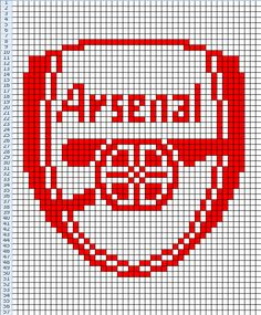 Arsenal FC. Chart for knitting, cross stitch etc.