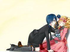 [Art Trade] CIel and Lizzy by Akuro-Usagi.deviantart.com on @DeviantArt