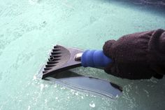 How to prevent a windshield from freezing-Just fill a spray bottle with three parts vinegar to one part water and spray on your car windows at night. In the morning, they should be clear of the icy mess.  How does it work? Vinegar contains acetic acid, which lowers the melting point of water – preventing water from freezing.