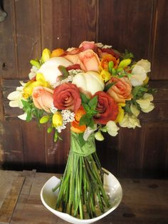 Summer/fall wedding - I think this is my favorite. It seems vintage but the long stems make it feel more modern
