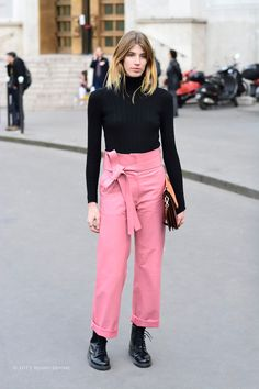 #VeronikaHeilbrunner fab Loewe trousers. Paris