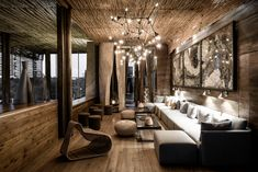 Lodge Look, Lodge Style, African Interior Design, Shop Interior Design, Lounge Design, Bungalow Hotel, South African Homes, Winter Lodge, Modern Colonial