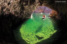 Emerald Cave - Black Canyon River http://www.kayaklasvegas.com/kayak_two_day/