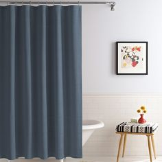 Royal Heritage Home® Solid Shower Curtains in Ink