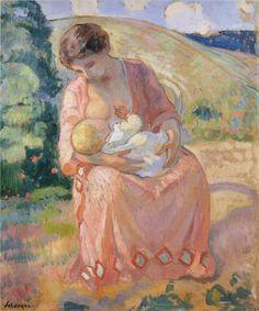 HENRI LEBASQUE (1865-1937) Maternidad