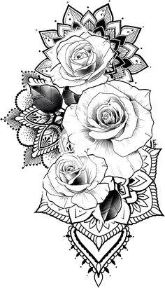 Pin sur New Tattoo Tattoo Sleeve Designs, Flower Tattoo Designs, Tattoo Sleeves, Mandala Tattoo Sleeve Women, Flower Designs, Rose Tattoos, Body Art Tattoos, Ankle Tattoos, Tattoo Ink