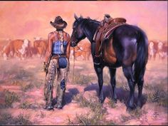 Working Girl - Western Art by Jack Sorenson. | Cowgirl Cravings