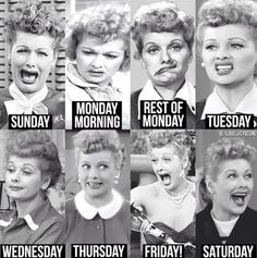 A face for every day of the week! LOL