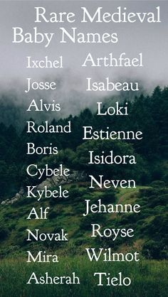 Unique rare medieval baby names baby girl names baby boy names unheard of baby n. - Unique rare medieval baby names baby girl names baby boy names unheard of baby names unisex baby na - Writing Promps, Book Writing Tips, Writing Characters, Writing Words, Pretty Names, Cute Names, Name Inspiration, Writing Inspiration, Aesthetic Names