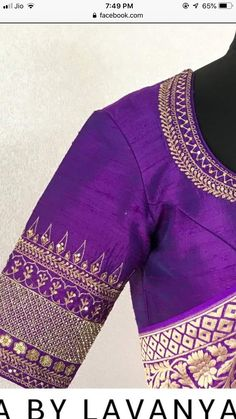 Saree designs Saree designs Source by work Wedding Saree Blouse Designs, Simple Blouse Designs, Stylish Blouse Design, Fancy Blouse Designs, Pattu Saree Blouse Designs, Blouse Neck Designs, Zardosi Work Blouse, Sari Blouse, Hand Work Blouse Design