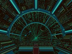 Moog goes Galactic, DKNG Studios - poster as viewed under a blacklight.
