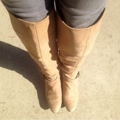 Top fashion Zara over the knee boots! NO TRADE⛔️ Beige tall suede boots( sale as it is) Zara Shoes Over the Knee Boots