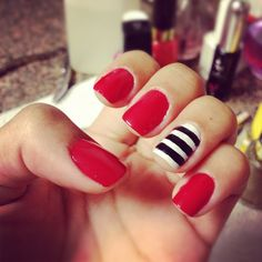 Bold Red with Stripes