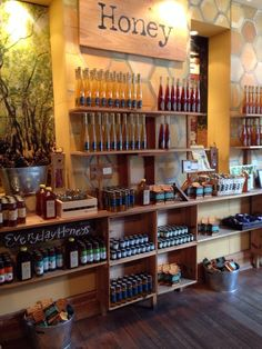 Savannah Bee Company - Savannah, GA, United States. This photo doesn't do the store justice! This is just a small portion of one wall.