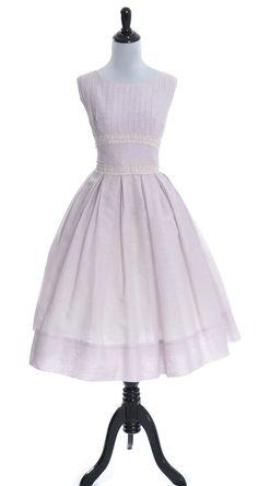 Vintage Dress 1950's purple J. Harlan Originals Lace trim