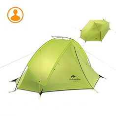 Ubens 1 Person Ultralight Backpacking Tent Outdoor Camping Single Layer Waterproof Tent Green *** You can get more details by clicking on the image.