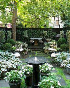 Small Courtyard Gardens, Small Gardens, Outdoor Gardens, Front Courtyard, Outdoor Patios, Indoor Garden, Small Garden Design Ideas Low Maintenance, Low Maintenance Garden, Backyard Garden Design