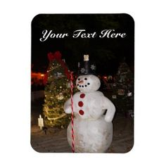 #Snowman & Christmas Tree Magnet - #Xmas #ChristmasEve Christmas Eve #Christmas #merry #xmas #family #kids #gifts #holidays #Santa