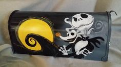 Nightmare Before Christmas Hand painted mailbox Custom by gonepostal09 on Etsy