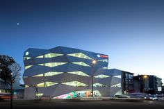"""The company slogan of """"Vodafone Life, Life in Motion"""" has found architectural expression in the construction of the Vodafone"""