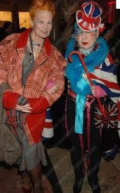 Vivianne Westwood and the late Anna Piaggi