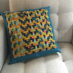 Woven Chevron Pillow FREE Tutorial | Sew Mama Sew | Outstanding sewing, quilting, and needlework tutorials since 2005