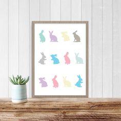 Pastel Bunny Rabbit Print