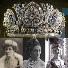 crown tiara The - one of the and more pieces within the Devonshire . Royal Crown Jewels, Royal Crowns, Royal Tiaras, Royal Jewelry, Tiaras And Crowns, Vintage Jewelry, Royal Monarchy, Crown Princess Victoria, Circlet