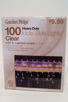 100 HEAVY DUTY CLEAR ICICLE STYLE LIGHTS CHRISTMAS PATIO PROM DECORATION