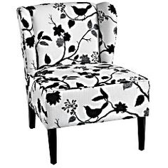 Annie Chair in Black Bird from Pier One, $249.  Adorable print--too bad it doesn't match our color scheme!