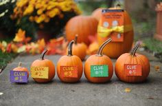 Halloween Treasure Hunt -- follow the clues to reveal the movie for Halloween Movie Night