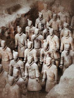 秦始皇兵马俑 Museum of the Terra-cotta Warriors and Horses of Qin Shihuang, Xi'an, China - Went here in 2005 with my husband and parents. Definitely a sight to see. I was amazed at how massive it was and the fact that so much of it has yet to be unearthed still.