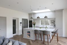 Bespoke Kitchens design experience for years. At Noel Dempsey Design we are experts in Traditional, Contemporary and Fitted Kitchens. Purbeck Stone, Stone Kitchen, Bespoke Kitchens, Modern Country, Kitchen Design, Kitchen Ideas, Modern Interior, New Homes, Contemporary